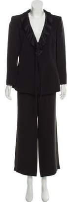 Armani Collezioni Mid-Rise Wide-Leg Pantsuit