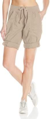 "Calvin Klein Women's Rib Waistband Convertible Cargo Bermuda Short 8""-12"" Inseam"