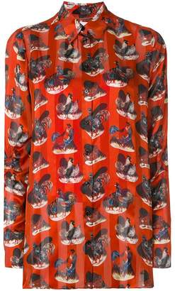 Carven rooster print shirt