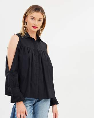 b70d4d2c754798 Loose Fit Cold Shoulder Tops - ShopStyle Australia