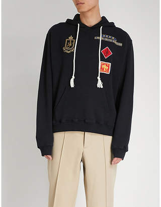 J.W.Anderson Multi patch-embroidered cotton-jersey hoody