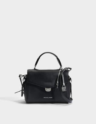 MICHAEL Michael Kors Bristol Small Top Handle Satchel Bag in Black Pebble Leather