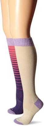 Wool IQ Women's Merino Wool Cushion Knee High 2 Pack Denim and Charcoal