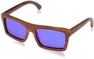 Earth Wood Hamoa Wood Sunglasses Polarized Square
