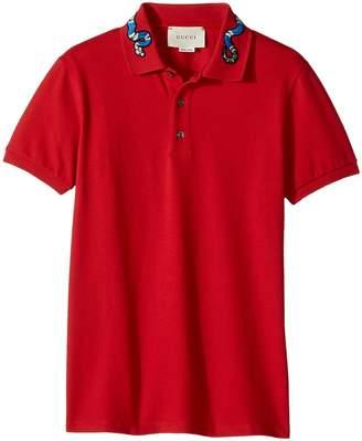 Gucci Kids T-Shirt Polo 431312X5B89 Boy's Short Sleeve Pullover