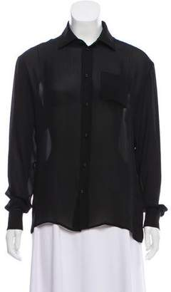 Tomas Maier Silk Button-Up Top