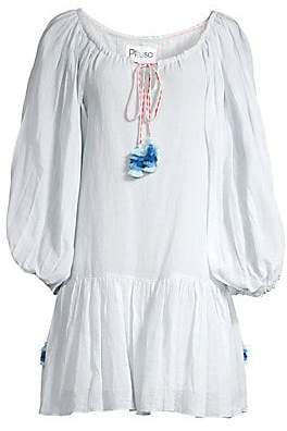 Pitusa Women's Drop-Hem Peasant Dress