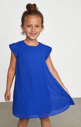 BCBGMAXAZRIA Pleated Chiffon Dress