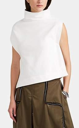 Yohji Yamamoto Regulation Women's Cotton-Blend Terry Side-Snap Top - White
