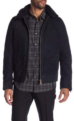 Scotch & Soda Nubuck Faux Fur Collar Jacket