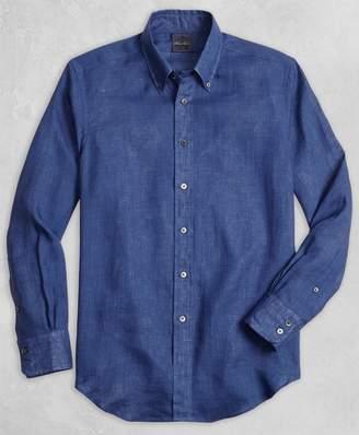 Brooks Brothers Golden Fleece Regent Fit Linen Sport Shirt