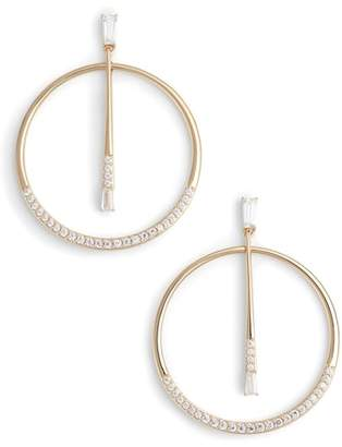 Nadri Cubic Zirconia Frontal Hoop Earrings