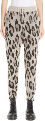 R 13 Leopard Jacquard Cashmere Pants