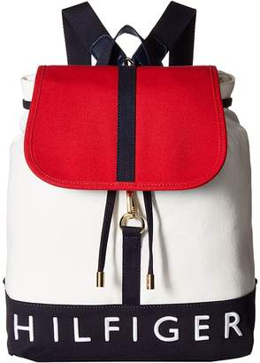 Tommy Hilfiger Sporty Signature Canvas Backpack Backpack Bags