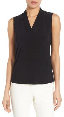 Women's Anne Klein Triple Pleat V-Neck Jersey Top $39 thestylecure.com