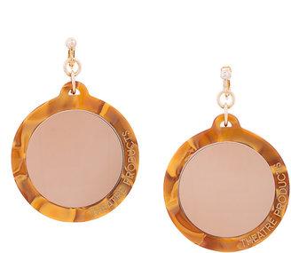 disk pendant earring