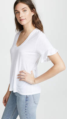 David Lerner Ruffle Sleeve Tee