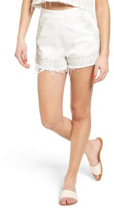 Blank NYC BLANKNYC Embroidered Denim Shorts