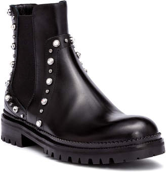 Jimmy Choo Burrow black leather beaded boots