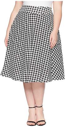 Unique Vintage Plus Size Vivien Swing Skirt Women's Skirt
