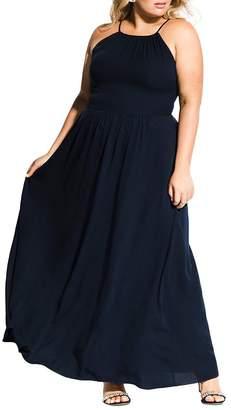 City Chic Plus Devotion Sleeveless Maxi Dress