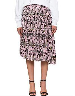 Kenzo Pleated Assymetric Midi Skirt