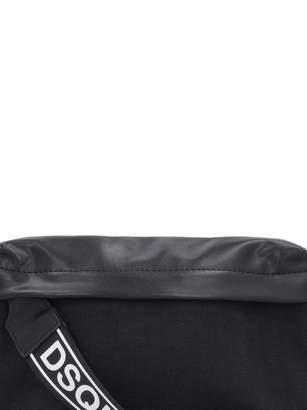 Nylon Belt Bag With Leather Details