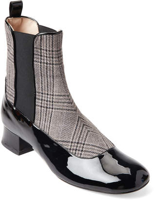 Camilla Elphick Houndstooth Patent Leather Booties