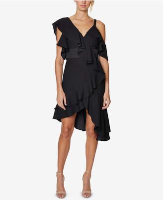 Laundry by Shelli Segal Asymmetrical Ruffled Dress