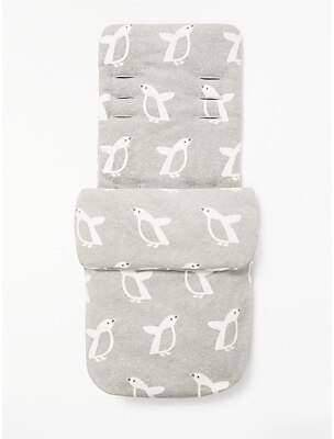 John Lewis & Partners Baby Penguin Pushchair Footmuff, Grey