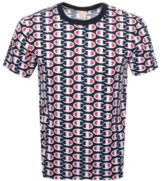 f3fa797b Champion All Over Print Logo T Shirt Navy