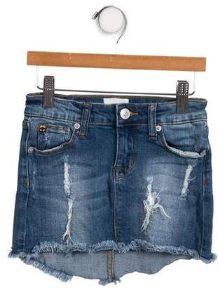 Hudson Girls' Distressed Denim Skirt