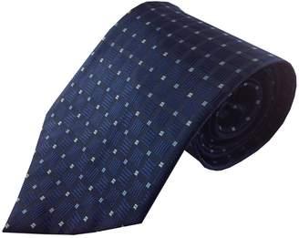 Kai Dark Multi Geometric Grid Pattern Necktie
