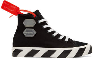 Off-White Black Vulcanized High-Top Sneakers