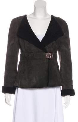 Marni Shearling Spread Collar Jacket