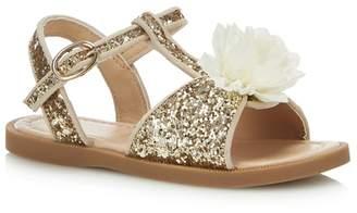 60efeffab611 bluezoo - Girls  Gold Glitter Sandals
