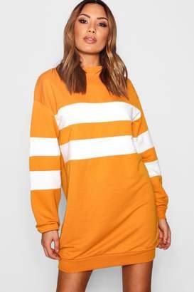 boohoo Colour Block Stripe Sweat Dress
