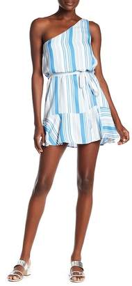 MinkPink One-Shoulder Stripe Dress