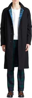 Burberry Men's Cotton Twill Reversible Mackintosh Coat