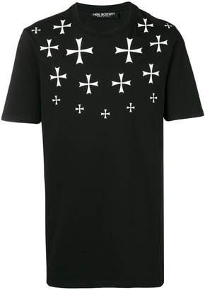 Neil Barrett military cross print T-shirt