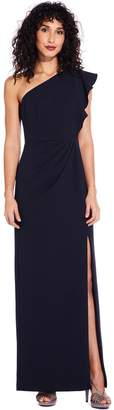 Adrianna Papell Midnight Knit Crepe Maxi Dress