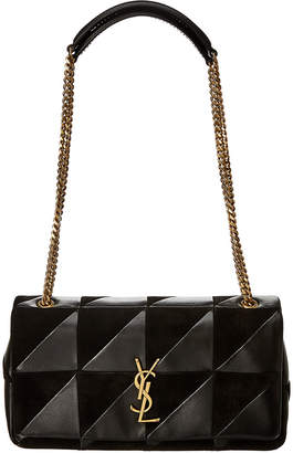 Saint Laurent Medium Jamie Patchwork Leather & Suede Shoulder Bag