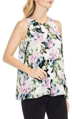 Vince Camuto Sleeveless Glacier Floral Blouse