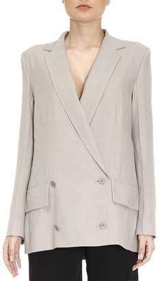 Bottega Veneta Blazer Double-breasted Silky Unlined Jacket