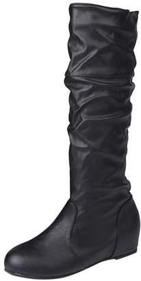 2761b23ec27 Black Knee High Flat Casual Boots - ShopStyle Canada