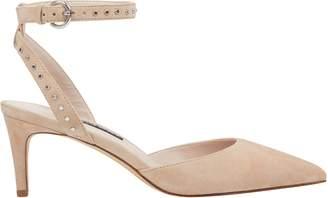 Susaham Studded Ankle Strap Pumps