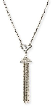 Lulu Frost Lucent Crystal Tassel Pendant Necklace $288 thestylecure.com