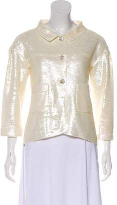 Chanel Sequined Button-Up Jacket