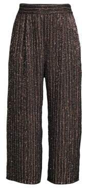 Parker Elen High-Rise Studded Wide Cropped Pants