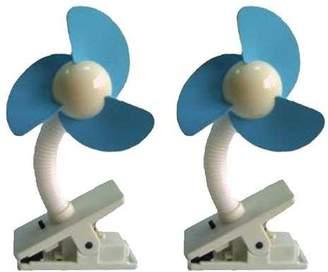 Dream Baby Dreambaby Stroller Fan, White/Blue - 2 Pack